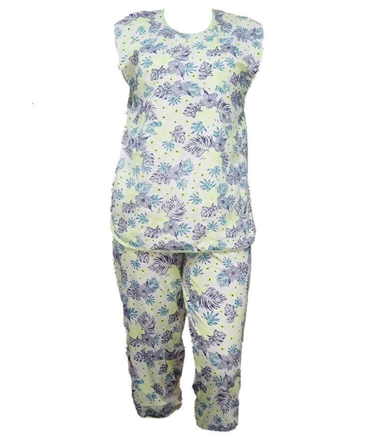 цветная женская пижама хлопок с бриджами