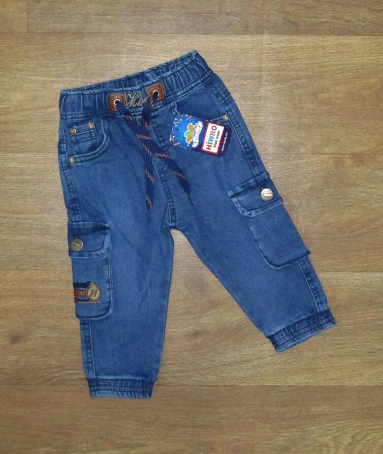 Детские джоггеры для мальчика с карманами Турция, джинс