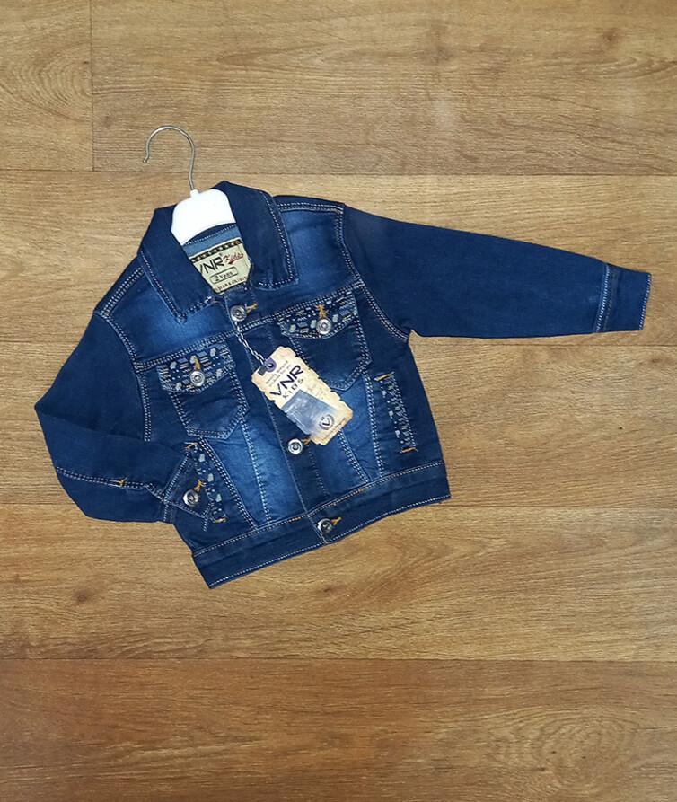Джинсовый детский пиджак для мальчика Турция