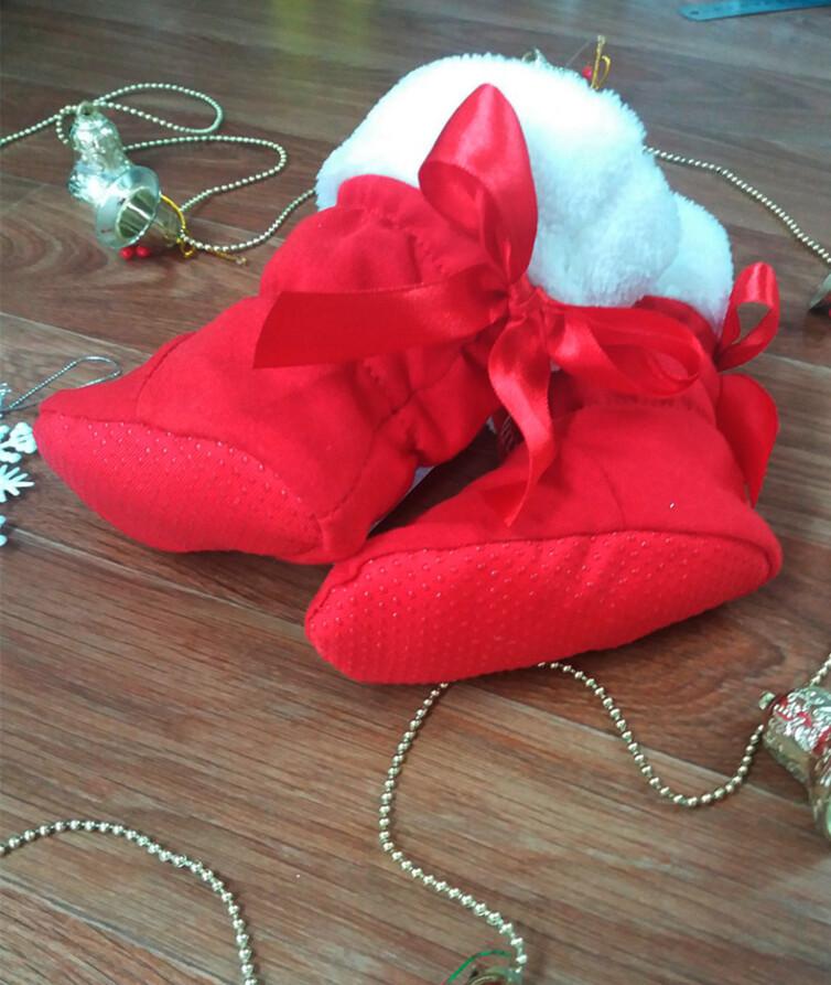 Ботиночки детские новогодние, начес