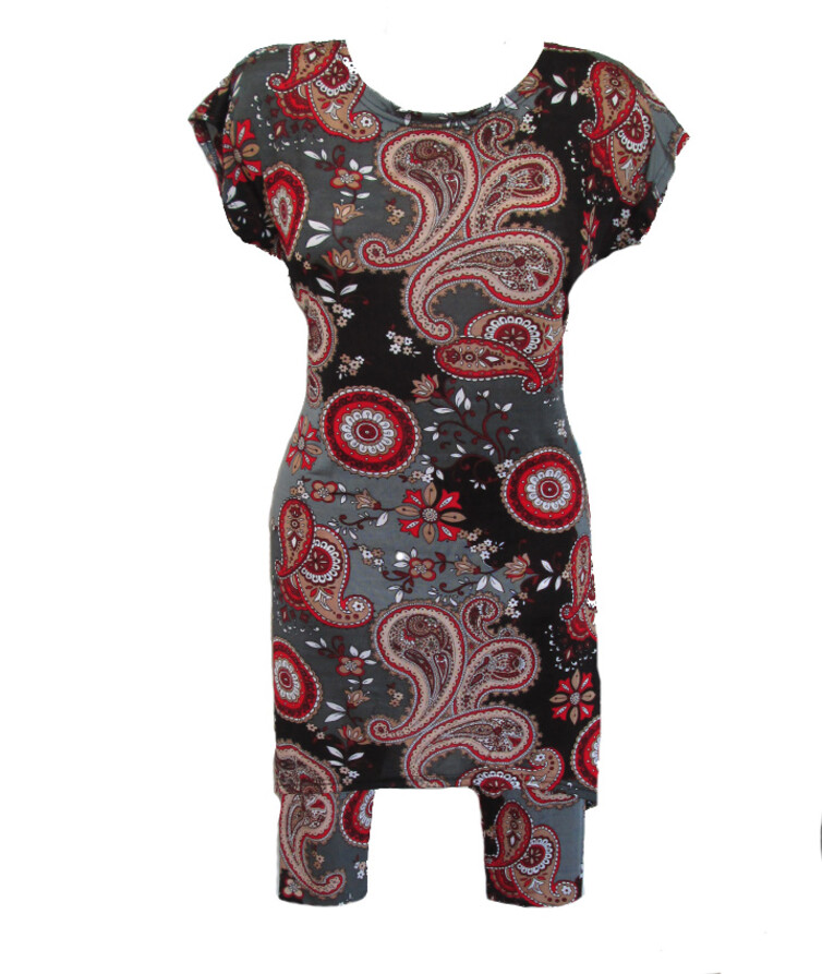 Летний костюм женский (туника + бриджи), вискоза