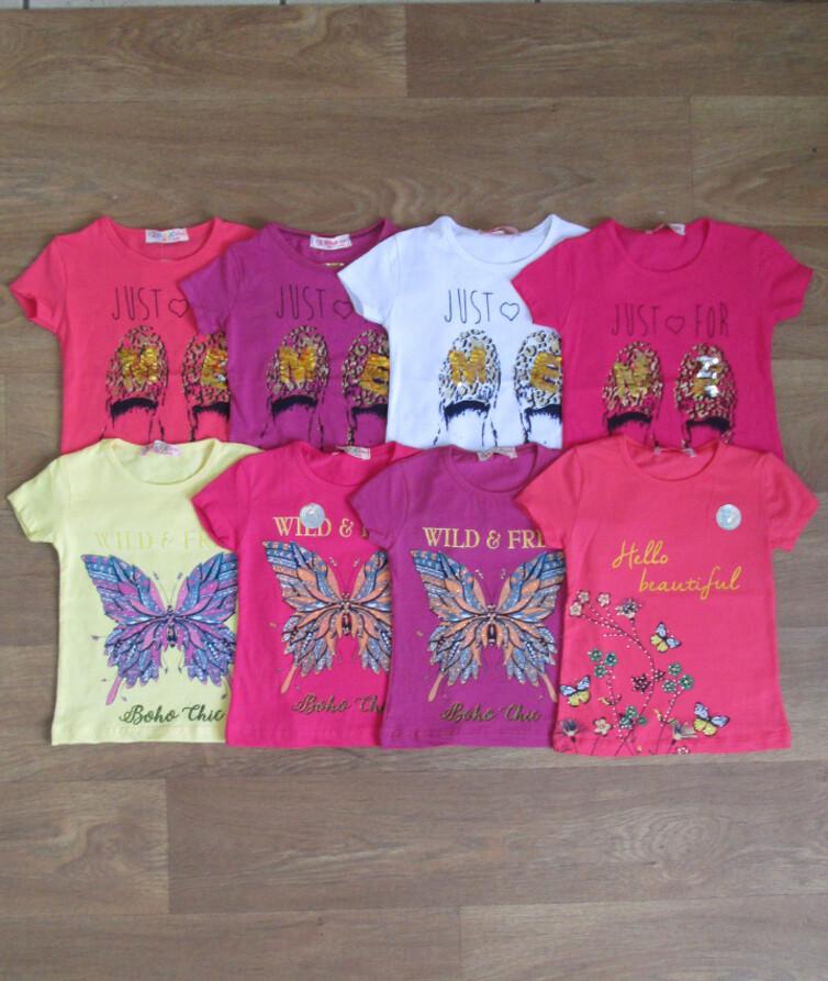 Детская футболка для девочки с рисунком турецкая  Difa