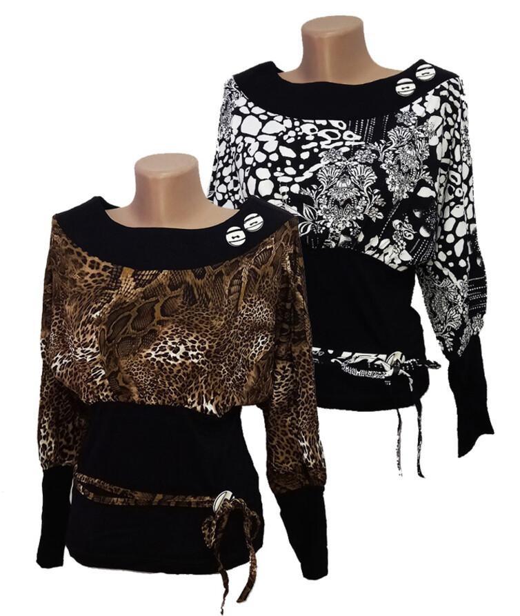Женская блуза с длинным рукавом, вискоза