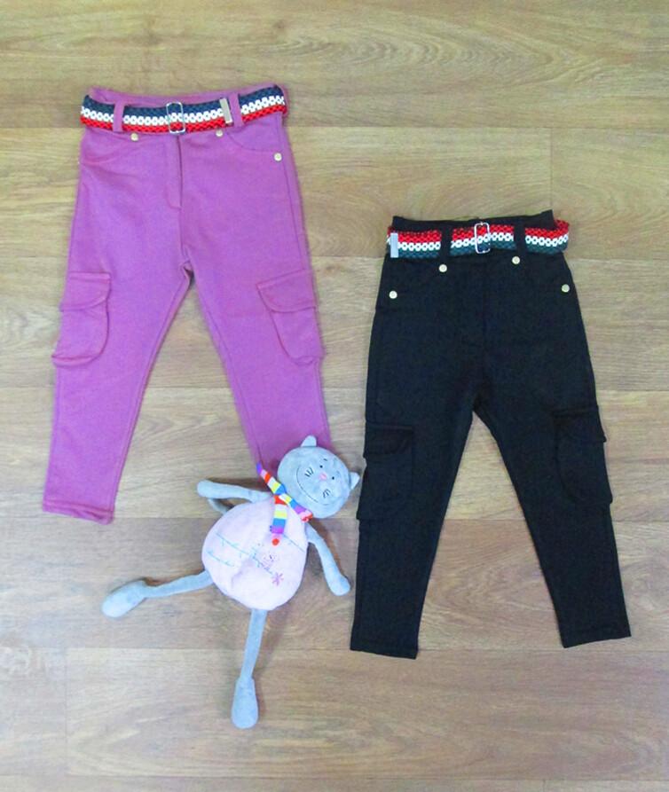 Штаны для девочки с карманами турецкие MARKAM PINK коттон