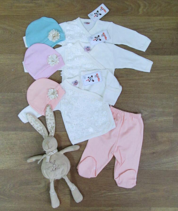 Комплект для новорожденных турецкий, интерлок