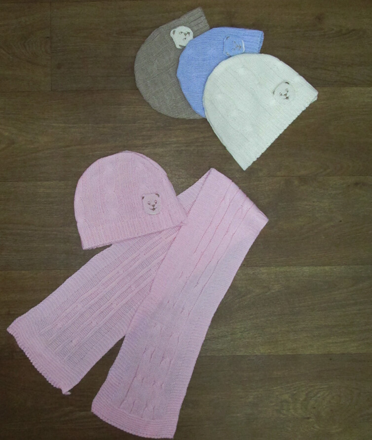 Детский набор шапка и шарф Турция, акрил