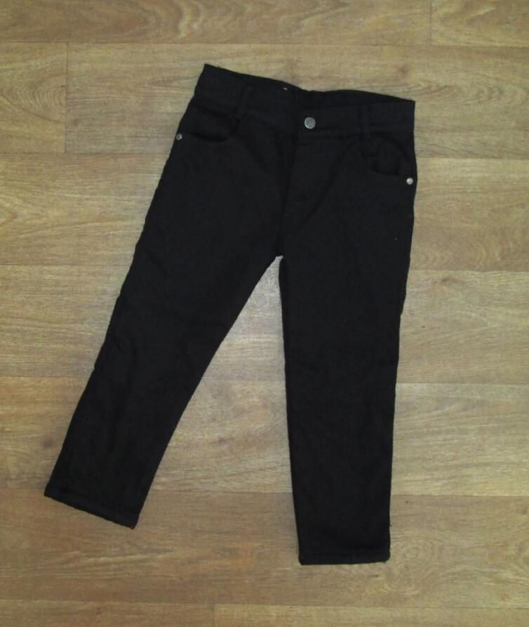 Теплые черные брюки для мальчика Турция, на меху