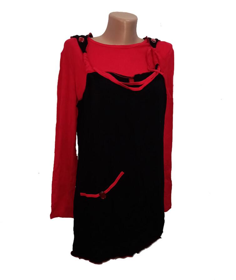 Женский комплект футболка с длинным рукавом + туника, вискоза