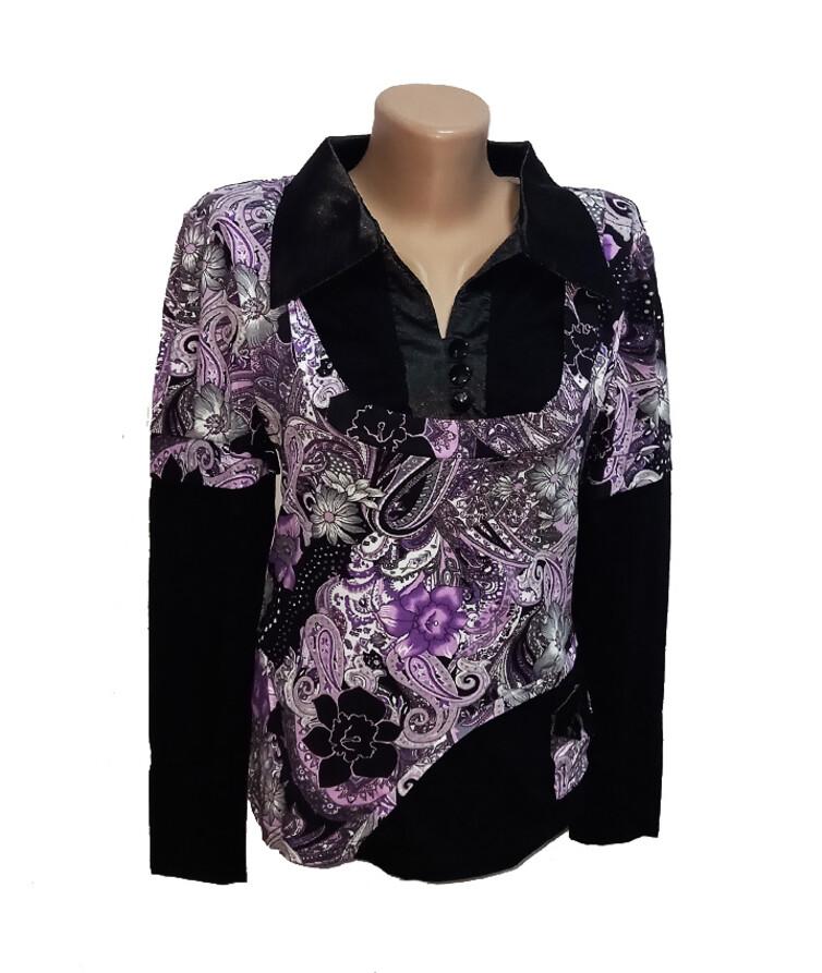 Рубашка женская с длинным рукавом, вискоза