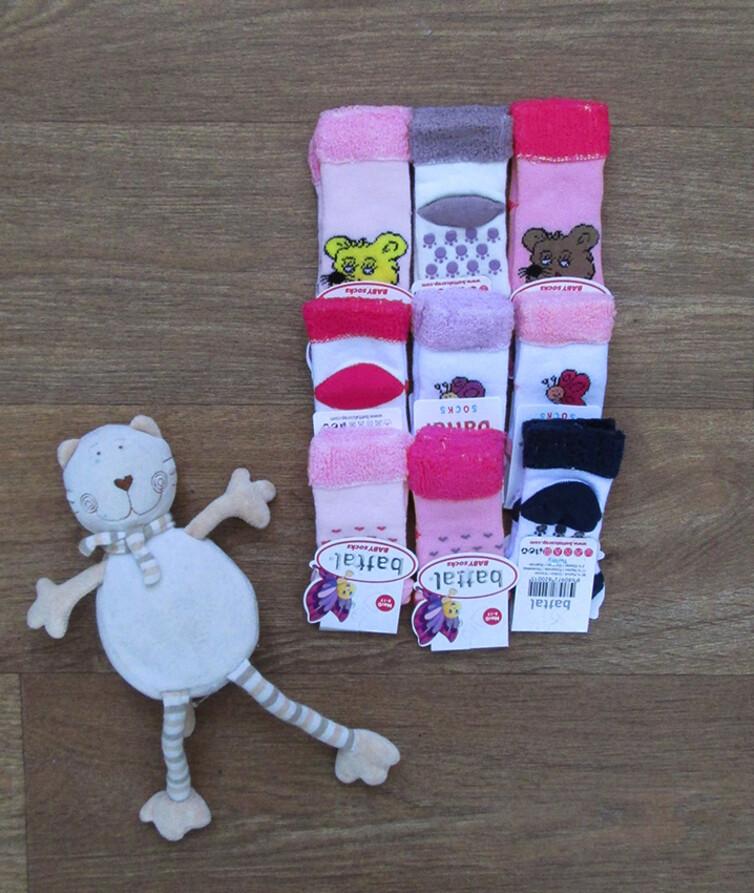 Носочки для новорожденных Турция с тормозами, махра