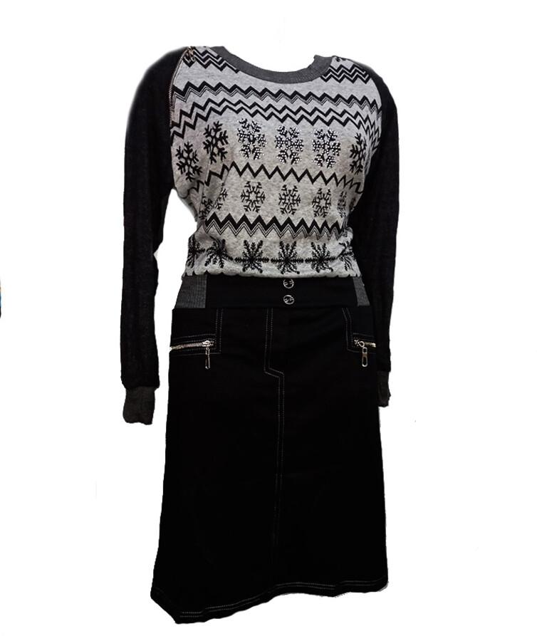Женское платье с длинным рукавом, ангора + шерсть