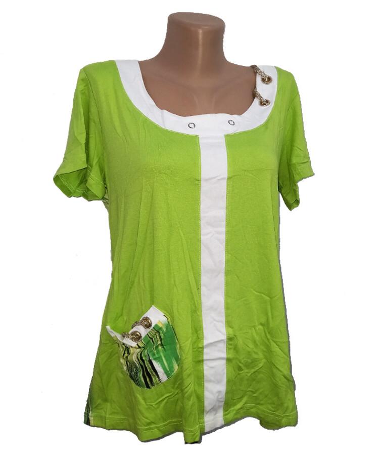 Женская футболка с карманом, вискоза