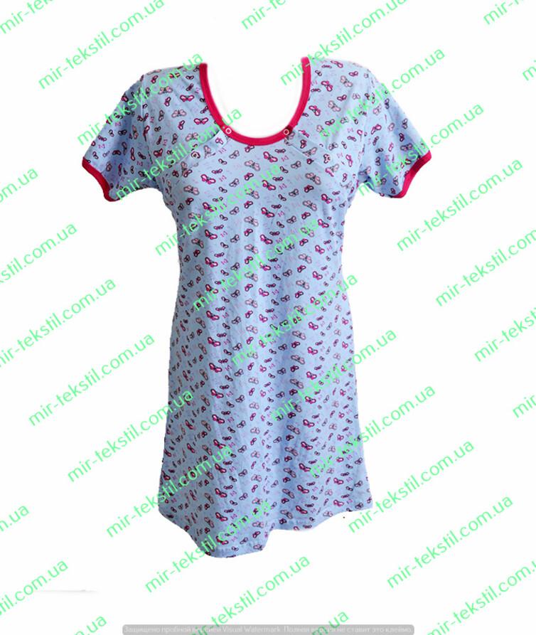 Ночная рубашка для кормящих стрейч кулир цветной