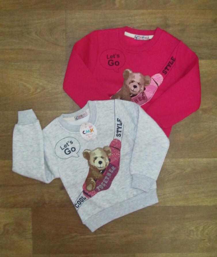Детский джемпер для девочки Турция, трехнитка