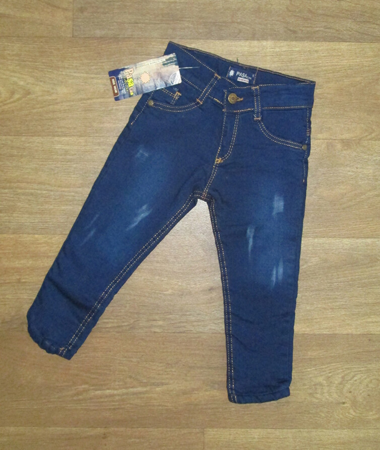 Детские джинсы для мальчика на меху Турция, джинс + мех