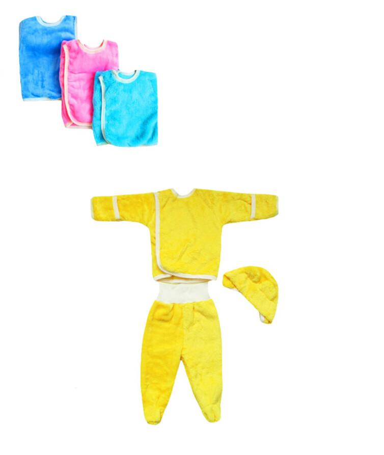 Комплект для новорожденных с шапочкой, вельсофт
