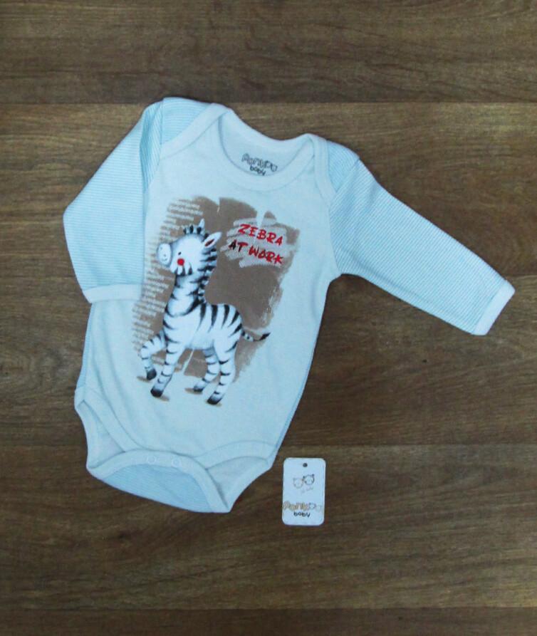 Ясельный бодик для  новорожденных турецкий, интерлок