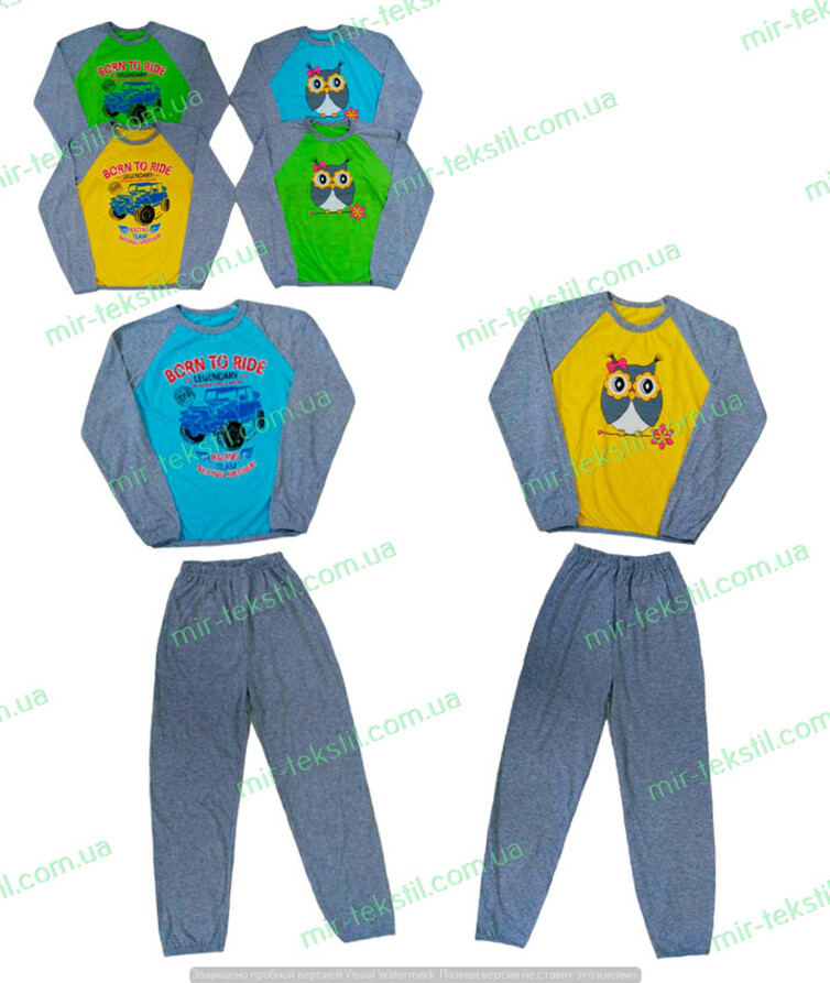 Пижама для подростка кулир реглан