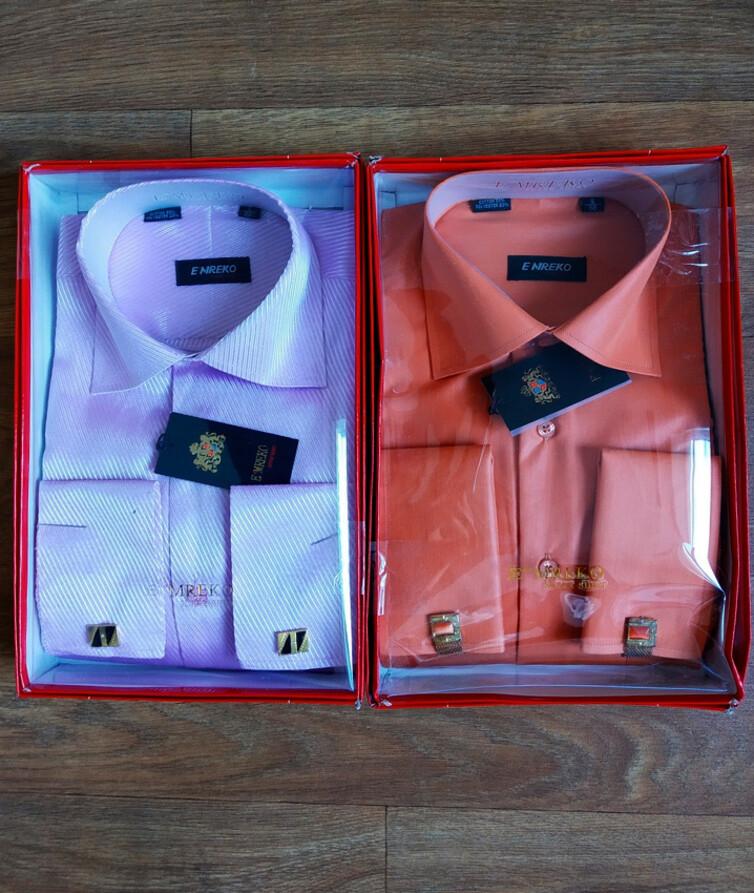Класическая мужская рубашка с запонками