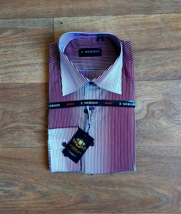 Класическая рубашка на мужчин в полоску Турция