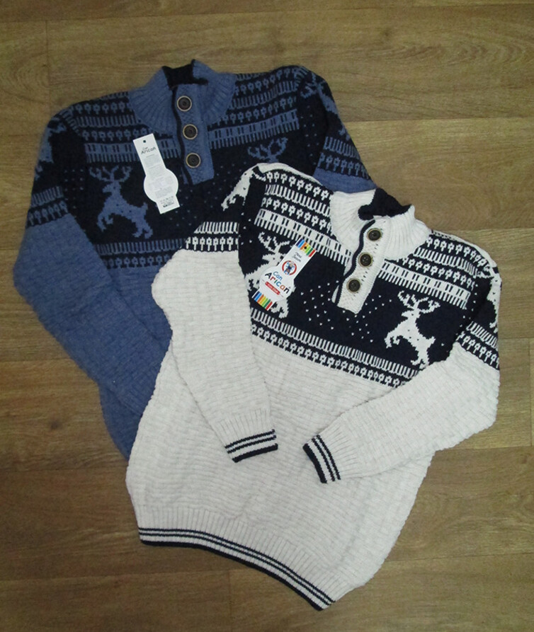 Детский свитер для подростка на пуговицах Турция, вязаный