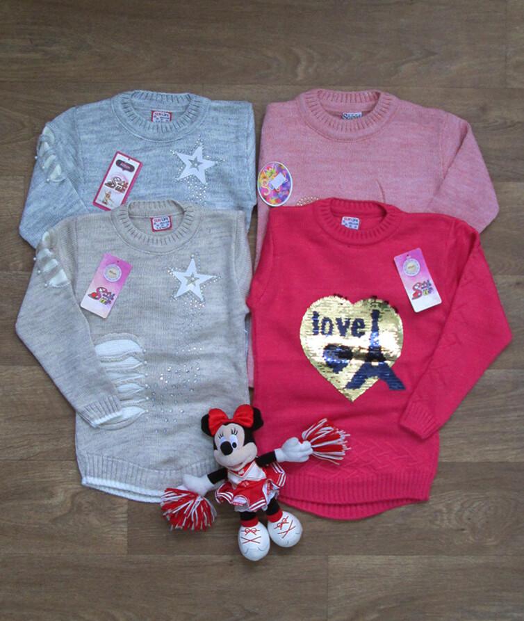 Детский турецкий светер для девочки  с паедками