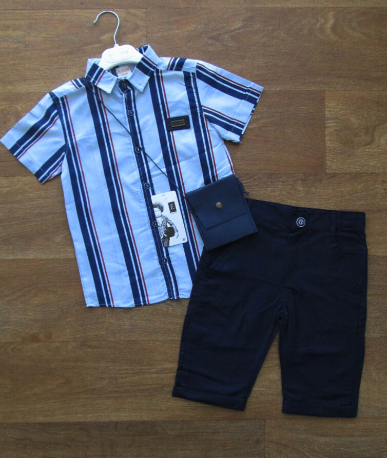 Костюм для мальчика турецкий (рубашка + бриджи + сумочка)