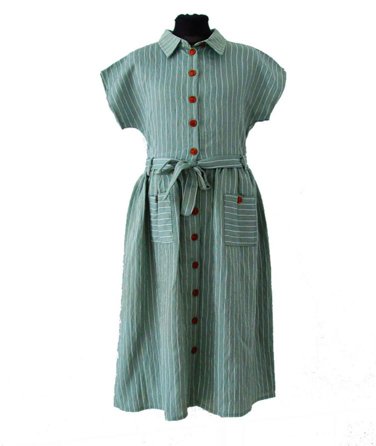 Платье - рубашка в полоску Турция (подросток)