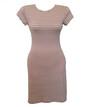 Молодежное женское платье в полоску