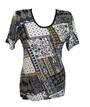 Яркая женская футболка с коротким рукавом