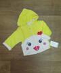 Детская кофта с капюшоном Турция, велюр + синтепон