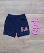 Детские шорты на девочку короткие однотонные с вышивкой Турция