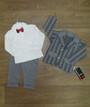 Нарядный костюм для мальчика ясельный турецкий (кофта, пиджак, штаны), интерлок + двухнитка